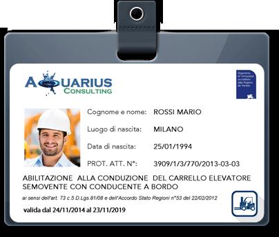 Patentino Muletto: Corso carrellisti Treviso Padova Vicenza Veneto